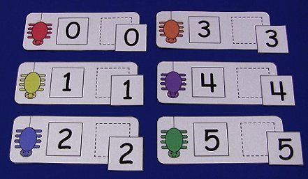 Spider Number Matching Cards