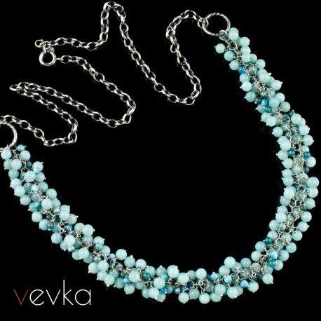 Naszyjnik Z Amazonitem I Apatytem Tylko Ty Vevka Pl Autorska Bizuteria Artystyczna Jewelry Turquoise Necklace Necklace