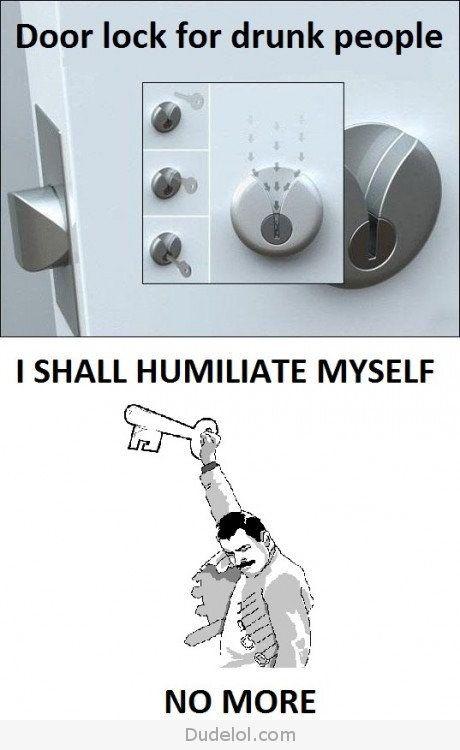 Door Locks for Drunk People...or sober people w poor visual spatial skills like me :)