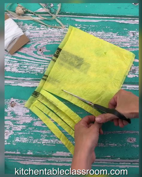 Plarn- How to Upcycle Plastic Bags into Yarn - The Kitchen Table Classroom