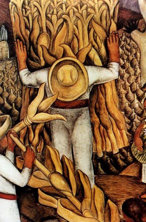 Los recolectores de choclos -  Diego Rivera