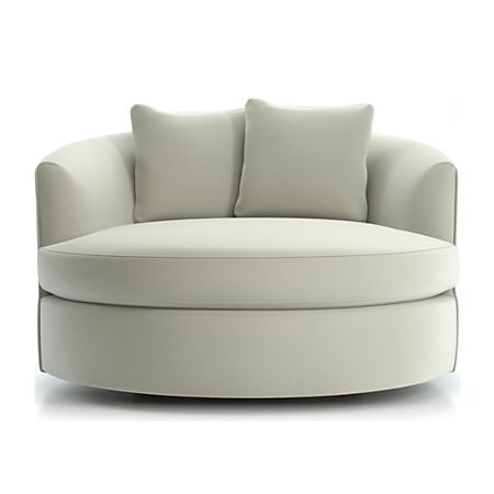 Tillie Grande Swivel Chair Reviews Crate And Barrel In 2021 Round Swivel Chair Swivel Chair White Swivel Chairs