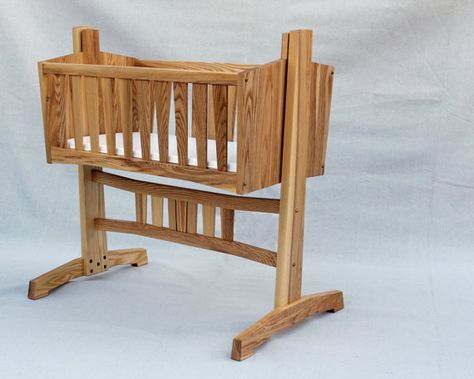 Heirloom Baby Cradle with Mortise and Tenon by Heartistics on Etsy