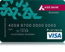 Business Platinum Debit Card Axis Bank Credit Card Design Visa Gift Card Axis Bank