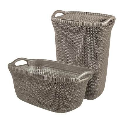 Curver Knit Set Wasbox 57 L Wasmand 40 L Woven Laundry Basket
