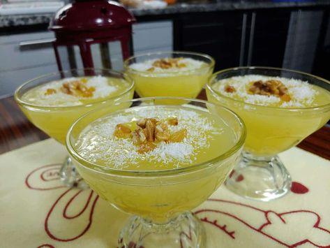طريقه عمل مهلبية البرتقال بيت الملكة Recipe Food Desserts Bowl
