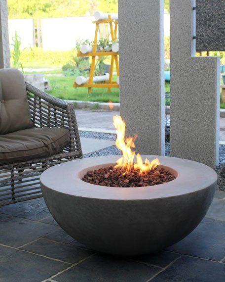Elementi Lunar Bowl Outdoor Fire Pit Table With Natural Gas Assembly Outdoor Fire Pit Table Outdoor Fire Table Outdoor Fire Pit