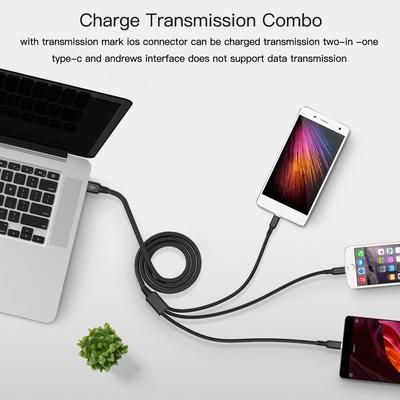 Usb Cable For Iphone Xs X 8 7 6 Charging Charger 3 In 1 Micro Usb Cable For Android Usb Typec Mobile Phone Cables For Samsung Phone Cables Micro Usb Cable Usb