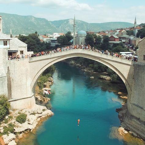 Bridge Jumping in Bosnia