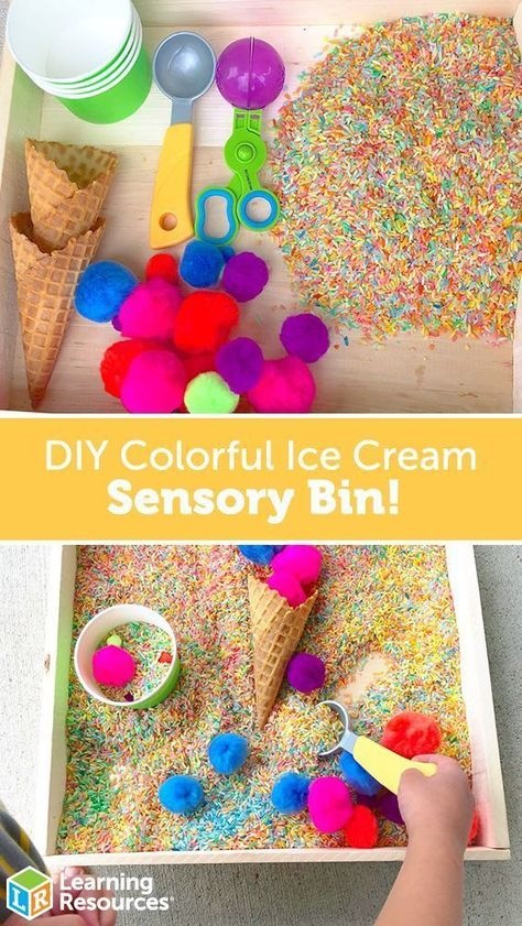 Colorful Ice Cream Sensory Bin! - Learning Resources Blog