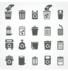 Trash Can And Recycle Bin Icons Vector Recycle Bin Icon Recycling Bins Trash Can