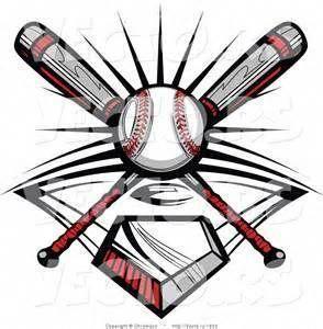 Baseball Bats Clipart Black And White Vector Of A Ball And 2 Baseball Baseballbats Tigersbaseball Softball Cross Softball Logos Baseball Art