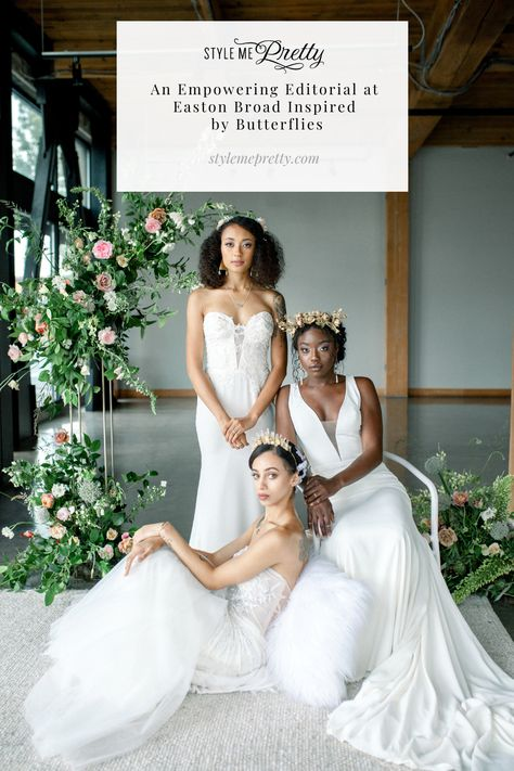 This empowering editorial was inspired by the transformation and growth our industry is currently experiencing. 🦋 Styling  Photography: @rtfaithphotography #weddingeditorial #weddingphotoshoot #weddingshoot #brideinspiration #butterflyinspiration