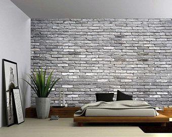 Canada Banff Rocky Mountain Lake Large Wall Mural Self Adhesive Vinyl Wallpaper Peel Stick Fabric Wall Decal Brick Wall Background Faux Brick Walls Large Wall Murals