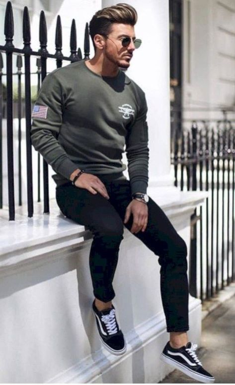 Super casual winter outfit for modern men 06 - Männer kleidung