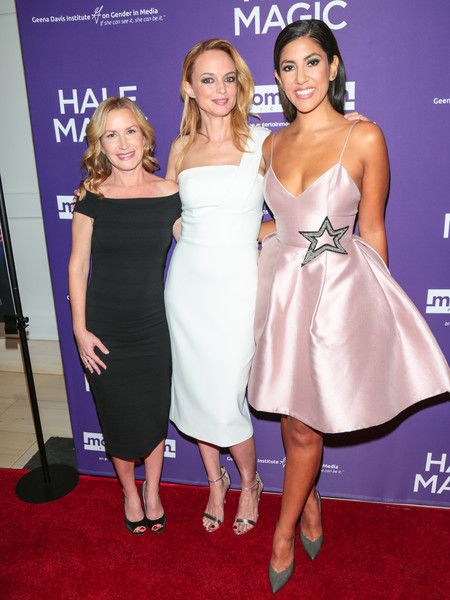 Angela Kinsey, Heather Graham, and Stephanie Beatriz are seen attending the premiere of Momentum Pictures' 'Half Magic' at The London West Hollywood.