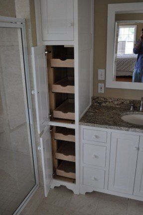 Bathroom Cabinet With Built In Laundry Hamper Bathroom