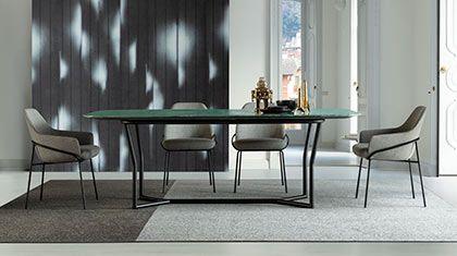 Disegnati e prodotti in italia abbiamo tavoli allungabili dal design unico. C J Tavolo Da Pranzo Con Piano In Quarzite Emerald Tavolo Design Design Moderno Sedia Design