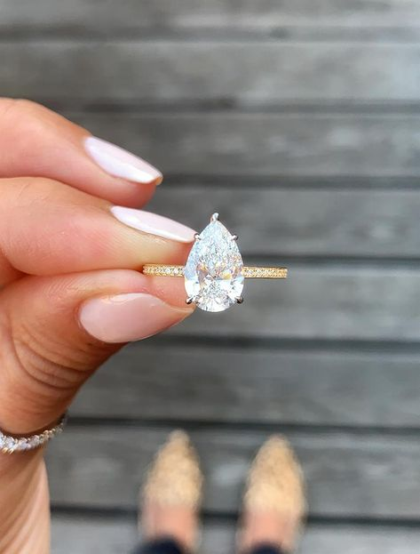 While trendy, pear cut diamonds have been around since 1475! They're a great option for those that are a looking for a little something extra.
