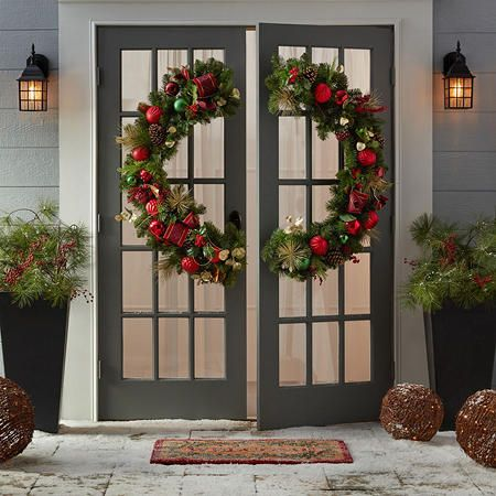 Member S Mark 48 Premium Decorated Gate Wreath Sam S Club Deco Navidena Deco Navideno