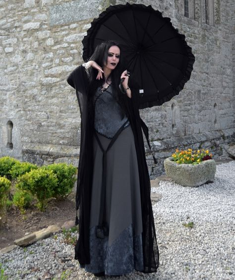 Lily Munster Costume - Grey Lady Lily Gown by Moonmaiden Gothic Clothing UK