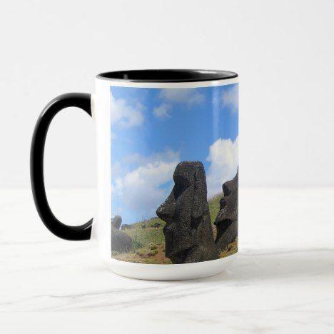 Moai On Easter Island Mug Zazzlecom In 2019 Easter