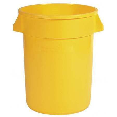 Rubbermaid 1892464 10 Gal Plastic Round Trash Can Open Yellow In 2020 Trash Can Rubbermaid Waste Container