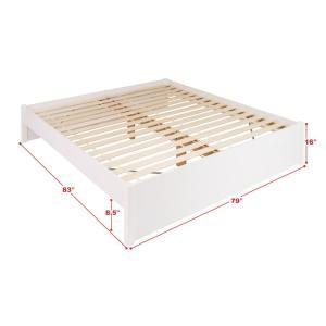 Prepac Select White King 4 Post Platform Bed Wbsk 1302 2k Prepac