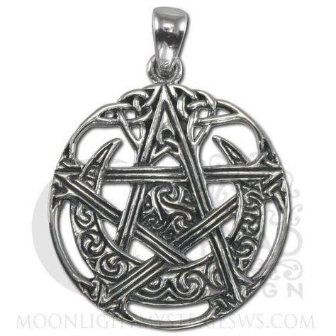 Sterling Silver Cut Tree Pentacle Pentagram Pendant Dryad Design Pagan Wicca