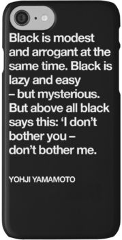 YOHJI YAMAMOTO BLACK IS EVERYTHING iPhone 7 Cases