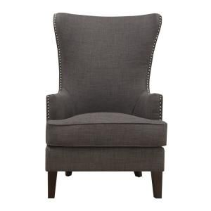 Astonishing Noble House Toddman Dark Teal Fabric High Back Accent Chair Machost Co Dining Chair Design Ideas Machostcouk