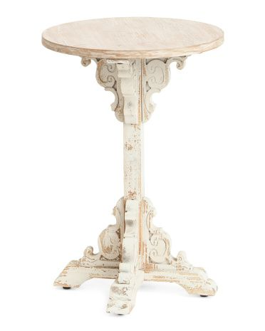 Round Wooden Table Wooden Tables Table Accent Table
