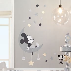themed bedrooms for adults disney mickey mouse bedroom.htm disney baby mickey mouse gray yellow celestial wall decals in 2020  disney baby mickey mouse gray yellow