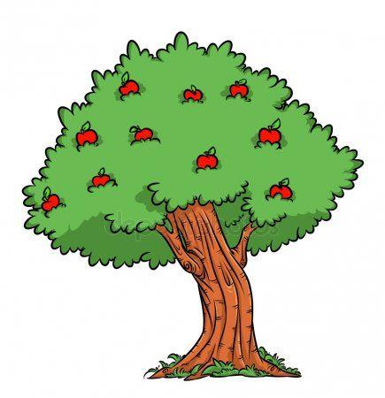 Dibujos Animados De Manzana De La Cosecha De Arbol Apple Imagen De Stock Multiplikacionnye Illyutracii Illyustracii Chertezhi