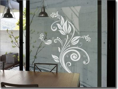 Glastattoo Flower Ornament Fenstertattoo Dekor Glastur