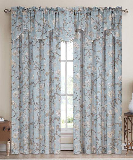 Goodgram Blue Sheer Lydia Curtain Valance Set Zulily Rod