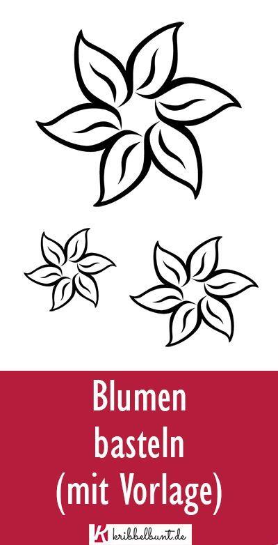 Blume Basteln 7 Blumen Vorlage Blumen Schablone 4
