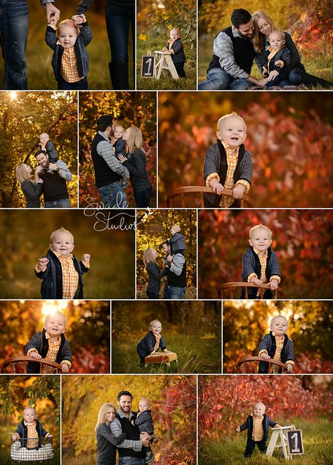 Kansas City family and first birthday Photographer Swade Studios birthday one year old boy outdoor fall colors yellow and grey best first birthday photographer in KC Family Photos With Baby, Family Picture Poses, Fall Family Pictures, Family Photo Sessions, Family Posing, Family Pics, Family Photo Shoot Ideas, Fall Photo Props, Fall Family Photo Outfits