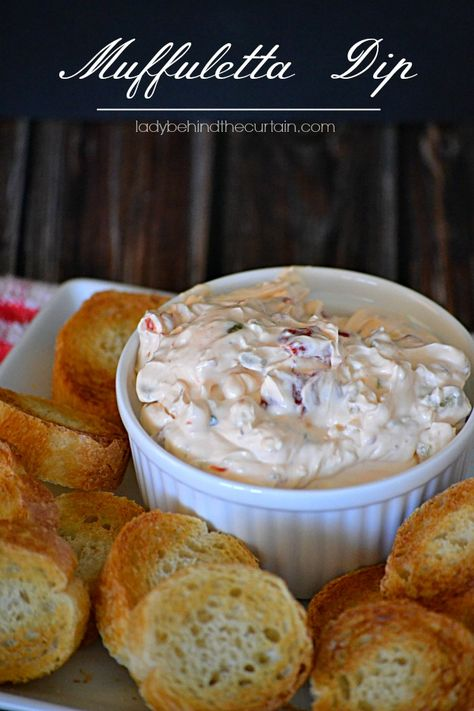Serving an Italian dinner?  This Muffuletta Dip is the perfect appetizer.  With tons of flavor, all you need are thin slices of a baguette. This creamy Muf