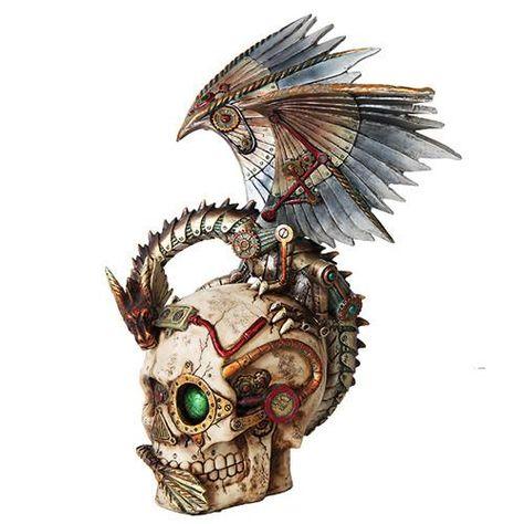 Steampunk Dragon Skull
