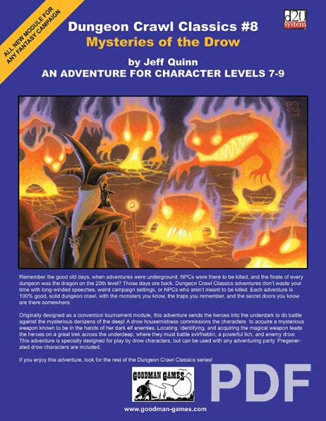 Dungeon Crawl Classics #8: Mysteries of the Drow – PDF