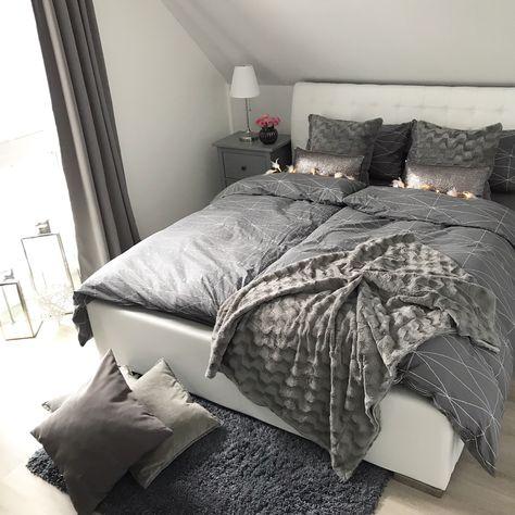 Instagram Wohn Emotion Landhaus Schlafzimmer Bedroom Modern Grau