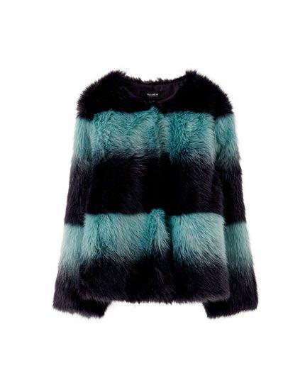 Degrade Suni Kurk Ceket Pull Bear Fashion Fur Coat Fashion Trends