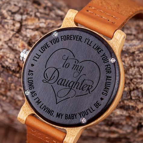 DAUGHTER - I'LL LOVE YOU FOREVER - WOOD WATCH