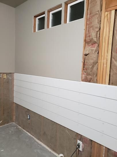 0 591 In X 6 000 In X 12 Ft Primed Mdf Shiplap Siding 1612pmdfsl The Home Depot Shiplap Siding Shiplap Home Depot
