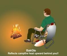 "Campfire Back Warmer ""BakGlo"" - keep your back warm too!"