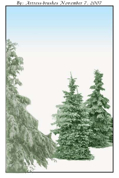 Snow Christmas Trees Christmas Tree With Snow Tree Photoshop Snow Photoshop