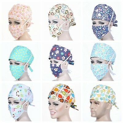 Scrub hats for women Scrub hats for womenFabric face mask double layer