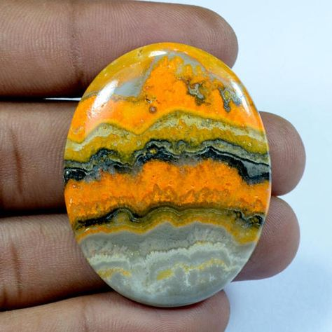 Bumblebee Jasper Cabochon,Crystal Mineral Stone,Jasper Oval shape,Pear Shape for making Jewelry and Macrame Lots of Natural Bumble bee