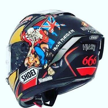 Wooow Shoei X Spirit 3 Hickman Trooper Shoei Xspirit Hickman Thetrooper Ironmaiden Shoei Helmets Motorcycle Helmet Design Helmet Design